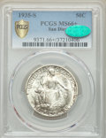 Commemorative Silver, 1935-S 50C San Diego MS66+ PCGS. CAC. PCGS Population: (1774/213 and 45/35+). NGC Census: (709/103 and 11/9+). MS66. Mintag...