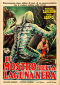 "Movie Posters:Horror, Creature from the Black Lagoon (Universal International, 1954). Very Fine- on Linen. Italian 2 - Fogli (39.25"" X 55""). Edmon..."