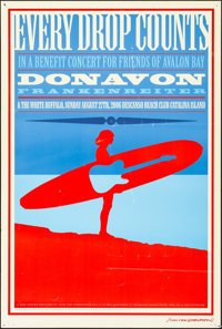 "Donavon Frankenreiter and The White Buffalo at the Descanso Beach Club (2006). Rolled, Fine+. Concert Poster (24"" X..."