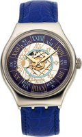 "Timepieces:Wristwatch, Swatch, Platinum ""Tresor Magique"" Limited Edition, Ref. SAZ 101, Automatic, Full Set, Circa 1993. ..."