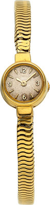 LeCoultre, Lady's 18k Gold Back Wind Bracelet Watch