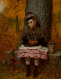 John George Brown (American, 1831-1913) School Bound, 1873 Oil on canvas 18 x 14 inches (45.7 x 3