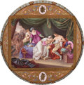 Ceramics & Porcelain, A Royal Vienna Porcelain Plaque in Wood Frame, Vienna, Austria, circa 1900. Marks: (shield) . 19-1/2 inches (49.5 cm) (plaqu...