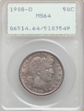 1908-O 50C MS64 PCGS. PCGS Population: (84/73). NGC Census: (35/53). MS64. Mintage 5,360,000