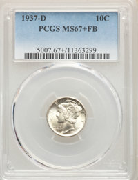 1937-D 10C MS67+ Full Bands PCGS. PCGS Population: (268/16 and 27/2+). NGC Census: (140/16 and 2/0+). CDN: $250 Whsle. B...