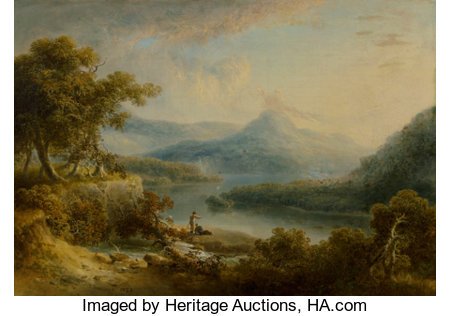 Thomas Doughty (American, 1793-1856) Two Fishermen, 1828 Oil on canvas 17 x 24 inches (43.2 x 61.0 cm) Signed and da...