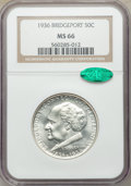 Commemorative Silver, 1936 50C Bridgeport MS66 NGC. CAC. NGC Census: (399/35). PCGS Population: (826/103). CDN: $250 Whsle. Bid for problem-free ...