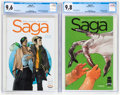 Modern Age (1980-Present):Science Fiction, Saga #1 and 2 CGC-Graded Group (Image, 2012).... (Total: 2 Comic Books)