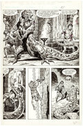 Original Comic Art:Panel Pages, John Buscema and Ernie Chan The Savage Sword of Conan #99 Page 54 Original Art (Marvel Comics, 1984). ...
