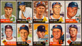 Baseball Cards:Lots, 1953 Topps Baseball Partial Set (75 Different) With High Numbers. ...