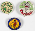 Premiums:Miscellaneous, Tarzan Vintage Pinback Buttons Group of 3 (Various Publishers, 1932-36).... (Total: 3 Items)