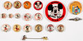 Premiums:Miscellaneous, Mickey Mouse Pinback Buttons Plus Group of 19 (Various Publishers, 1930s-60s).... (Total: 19 Items)