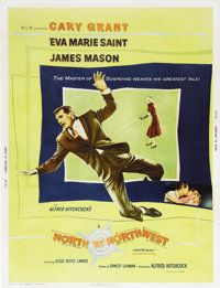 """North by Northwest (MGM, 1959). Poster (30"""" X 40""""). This is master of suspense Alfred Hitchcock's clever tale..."""