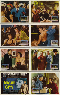"Night and the City (20th Century Fox, 1950). Lobby Card Set of 8 (11"" X 14""). Two-bit con man and hustler Harr..."