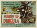 """Movie Posters:Horror, Horror of Dracula (Universal International, 1958). Half Sheet (22"""" X 28""""). The first of Hammer Studios great series featurin..."""