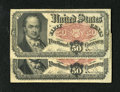 Fractional Currency:Fifth Issue, Fr. 1381 50c Fifth Issue Fine Two Examples. Nice edges for thegrade are seen on this pair.. ... (Total: 2 notes)