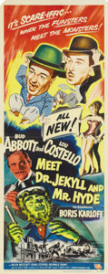 """Movie Posters:Comedy, Abbott and Costello Meet Dr. Jekyll and Mr. Hyde (UniversalInternational, 1953). Insert (14"""" X 36""""). After the amazing succ..."""