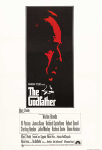 "The Godfather (Paramount, 1972). British One Sheet (27"" X 40""). One of the greatest American films of all time..."