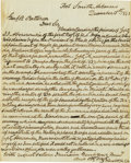 Autographs:U.S. Presidents, Zachary Taylor Important Autograph Letter Signed: Less than fiveyears before his election as President, General Taylor writ...
