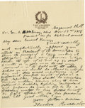 Autographs:U.S. Presidents, Theodore Roosevelt Superb Patriotic Autograph Letter Signed: Lessthan five months before the United States would enter Worl...