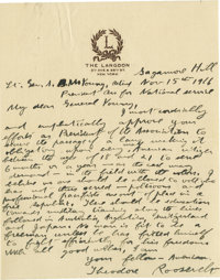 Theodore Roosevelt Superb Patriotic Autograph Letter Signed: Less than five months before the United States would enter...