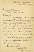 Autographs:U.S. Presidents, Woodrow Wilson Superb Autograph Letter Signed: Two weeks before the Treaty of Paris ended the Spanish-American War, Princeto...