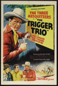 "Movie Posters:Western, The Trigger Trio (Republic, 1937). One Sheet (27"" X 41""). Western. Starring Ray Corrigan, Max Terhune, and Ralph Byrd. Direc..."