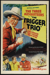"""The Trigger Trio (Republic, 1937). One Sheet (27"""" X 41""""). Western. Starring Ray Corrigan, Max Terhune, and Ral..."""