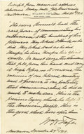 Autographs:U.S. Presidents, William H. Taft Excellent Lengthy Autograph Quote Signed: A month after he eulogized his predecessor, Taft quotes from his m...