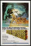 "Movie Posters:Fantasy, When Dinosaurs Ruled the Earth (Warner Brothers, 1970). One Sheet(27"" X 41""). Adventure Fantasy. Starring Victoria Vetri, R..."