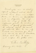Autographs:U.S. Presidents, Calvin Coolidge Superb Autograph Manuscript Signed: As directed by the U.S. Congress, the President reminds the American peo...