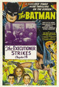 """Movie Posters:Serial, The Batman (Columbia, 1943). One Sheet (27"""" X 41""""). Chapter 14 --""""The Executioner Strikes."""" Columbia's 15 episode serial wa..."""