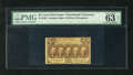 Fractional Currency:First Issue, Fr. 1282 25c First Issue PMG Choice Uncirculated 63 Net. Threetight margins, but excellent color is found on this note. Thi...