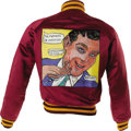 Music Memorabilia:Costumes, Frank Zappa Signed Mothers of Invention Jacket. This one-of-a-kindmaroon satin jacket with yellow piping features a custom,...