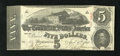 Confederate Notes:1863 Issues, T60 $5 1863. This is a lightly handled $5 with the bottom cut inside the frame line. Extremely Fine-About Uncirculated....