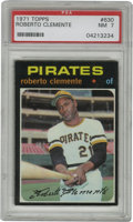 Baseball Cards:Singles (1970-Now), 1971 Topps Roberto Clemente #630 PSA NM 7. Due to the black bordersthat Topps utilized for their 1971 issue, high-grade ex...