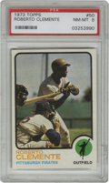 Baseball Cards:Singles (1970-Now), 1973 Topps Roberto Clemente #50 PSA NM-MT 8. First Topps issue cardof Roberto Clemente released after his tragic 1972 deat...