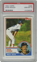 Baseball Cards:Singles (1970-Now), 1983 Topps Wade Boggs #498 PSA Gem Mint 10. Pristine example of theHall of Fame Red Sox legend Wade Boggs. The perfect ca...