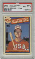 Baseball Cards:Singles (1970-Now), 1985 Topps Tiffany Mark McGwire '84 USA Baseball Team #401 PSANM-MT 8. From Topps' limited 1985 Tiffany issue, which were ...