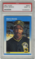 Baseball Cards:Singles (1970-Now), 1987 Fleer Barry Bonds #604 PSA Mint 9. Exceptional Mint rookie ofBarry Bonds here exhibits four razor sharp corners and f...