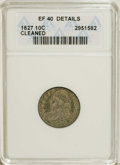 Bust Dimes: , 1827 10C --Cleaned--ANACS. XF40 Details. NGC Census: (5/206). PCGSPopulation (14/176). Mintage: 1,300,000. Numismedia Wsl. ...
