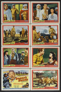 "Movie Posters:Adventure, Desert Sands (United Artists, 1955). Lobby Card Set of 8 (11"" X14""). Adventure. Starring Ralph Meeker, Marla English, J. Ca...(Total: 8 Item)"