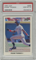 Baseball Cards:Singles (1970-Now), 1990 Leaf Frank Thomas #300 PSA Gem Mint 10. Released at time when the Big Hurt was just a bit smaller, this perfect rookie...