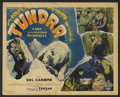 "Movie Posters:Adventure, Tundra (Burroughs-Tarzan-Enterprise, 1936). Lobby Card (11"" X 14"").Adventure Drama. Starring Alfred Delcambre, Merrill McCo... (Total:8 Item)"