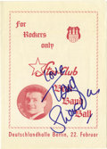 "Music Memorabilia:Autographs and Signed Items, Beatles Related - Tony Sheridan Signed Flyer. A flyer advertisingTony Sheridan as part of the ""Star-Club Beat Band Ball,"" s..."