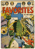 "Golden Age (1938-1955):Science Fiction, Four Favorites #9 Davis Crippen (""D"" Copy) pedigree (Ace, 1943)Condition: FN-...."