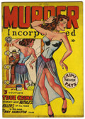 """Golden Age (1938-1955):Crime, Murder Incorporated #4 Davis Crippen (""""D"""" Copy) pedigree (Fox Features Syndicate, 1948) Condition: FN...."""