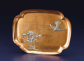 Silver Holloware, American:Trays, An American Mixed Metal Tray. Gorham Manufacturing Co., Providence,Rhode Island. 1882. Copper and silver. Marks: (anchor...