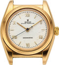 Timepieces:Wristwatch, Rolex, 14k Yellow Gold Bubble Back, Ref 3131, circa 1946 For Restoration. ...