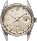 Timepieces:Wristwatch, Rolex, Steel Oyster Perpetual Date, Ref. 1500, circa 1961, Parts Watch. ...